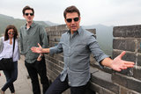 Tom Cruise had fun at the Great Wall of China.