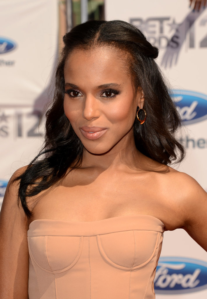 Why not add a middle part to your half-up hairstyle to get Kerry's look from the 2011 BET Awards? Just add a smoky eye and nude lipstick.