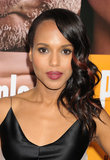 At the LA premiere of Peeples, Kerry wore her retro ringlets over one shoulder, but the addition of burgundy highlights gave the style a modern spin.