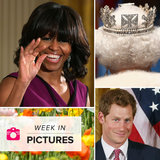 Prince Harry Heads to America, Obama Speaks to Grads, and the Queen Sparkles