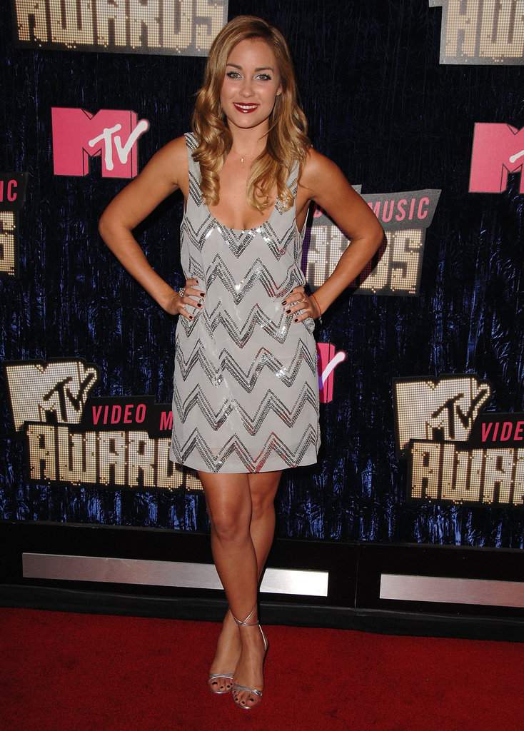 Conrad sparkled in an embellished silver minidress with matching sandals at the 2007 MTV VMAs in Las Vegas. Lesson from Lauren: keep your add-ons minimal when wearing a sequined dress.