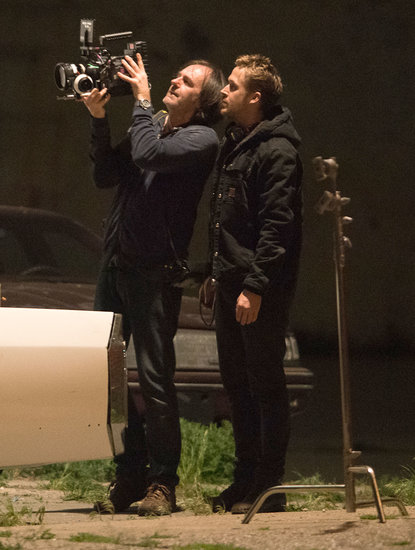 Ryan Gosling got busy directing his film How to Catch a Monster in Detroit on Thursday night.
