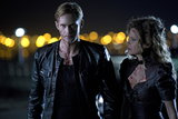 Alexander Skarsgard as Eric and Kristin Bauer as Pam on True Blood.