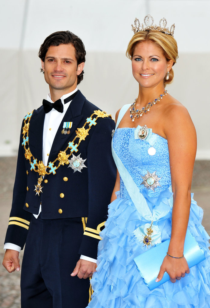 The prince looked dashing alongside his younger sister, Princess Madeline of Sweden.