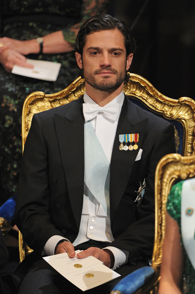 Prince Carl Philip sported some sexy scruff when he attended the Nobel Prize ceremony in 2012.