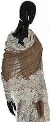 Taupe Lace Shawl
