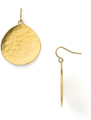 Lauren Ralph Lauren Large Hammered Disc Drop Earrings