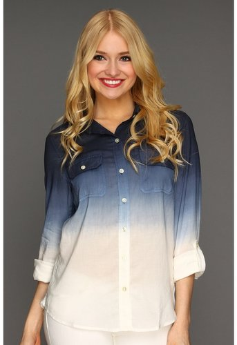 Lucky Brand - Brooke Dip Dye Shirt (Navy Multi) - Apparel