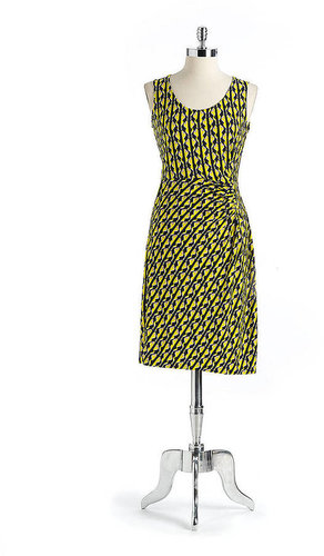 ANNE KLEIN NEW YORK Printed Sleeveless Dress
