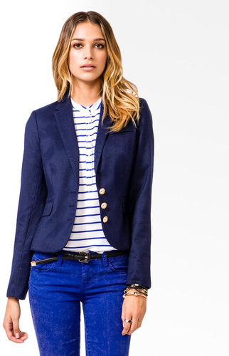 FOREVER 21 Nautical Button Blazer