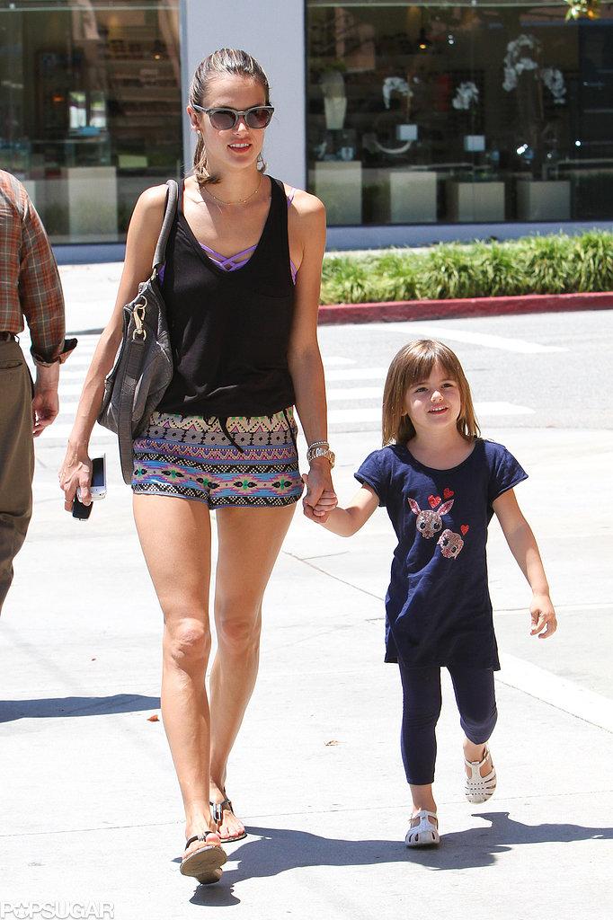 Alessandra Ambrosio and Anja Mazur walked to get frozen yogurt in LA.