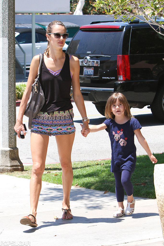 Alessandra Ambrosio and her daughter were out in LA.