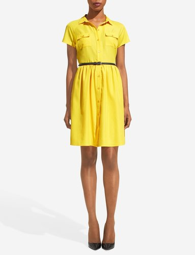 Short-Sleeve Shirtdress