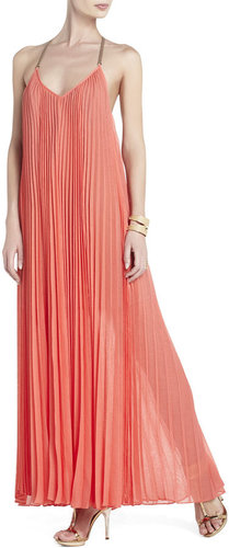 Edita Sunburst-Pleat Maxi Dress