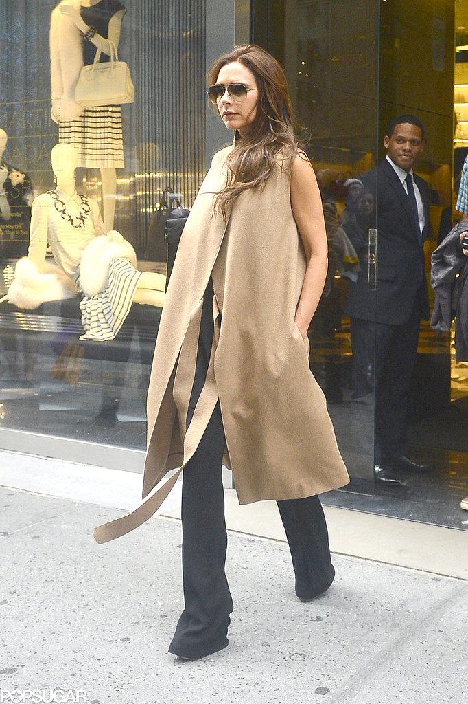 Victoria Beckham smiled while she shopped around NYC.