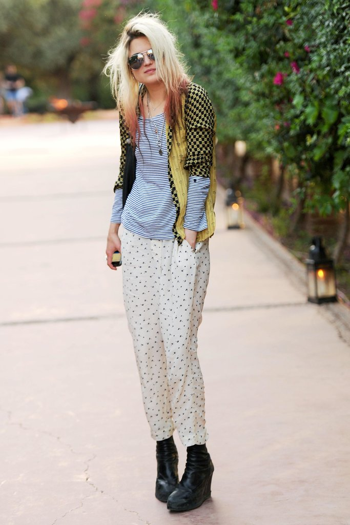 The Kills's Allison Mosshart rocked casual layers and a dip-dyed mane. Source: Billy Farrell/BFAnyc.com
