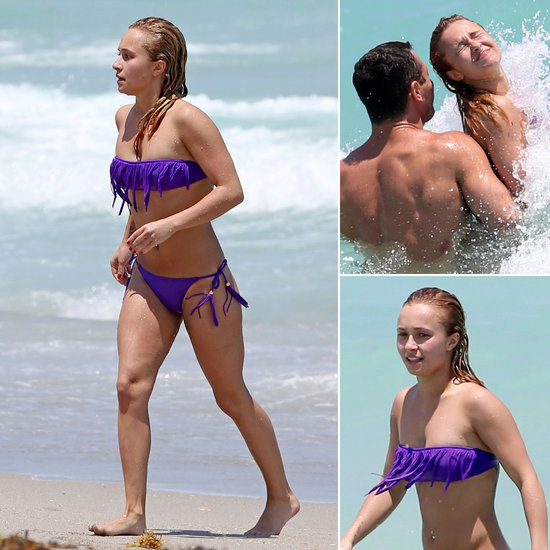 Hayden Busts Out Her Bikini For a Dip With Wladimir