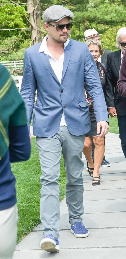 Leonardo DiCaprio looked dapper at the Andy Warhol art exhibit.  Source: Billy Farrell/BFAnyc.com