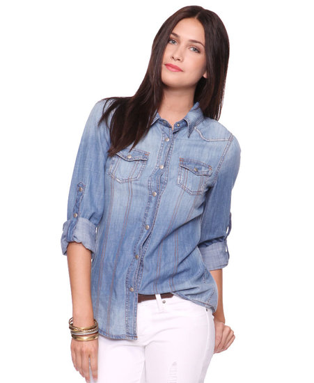If you don't have a classic denim shirt in your Summer arsenal, then we suggest snapping up Forever 21's Denim Shirt ($28) as soon as possible.