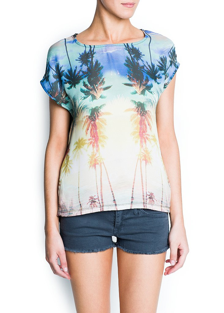Get in on the season's photo-print trend with Mango's Palms Print Chiffon T-Shirt ($35).