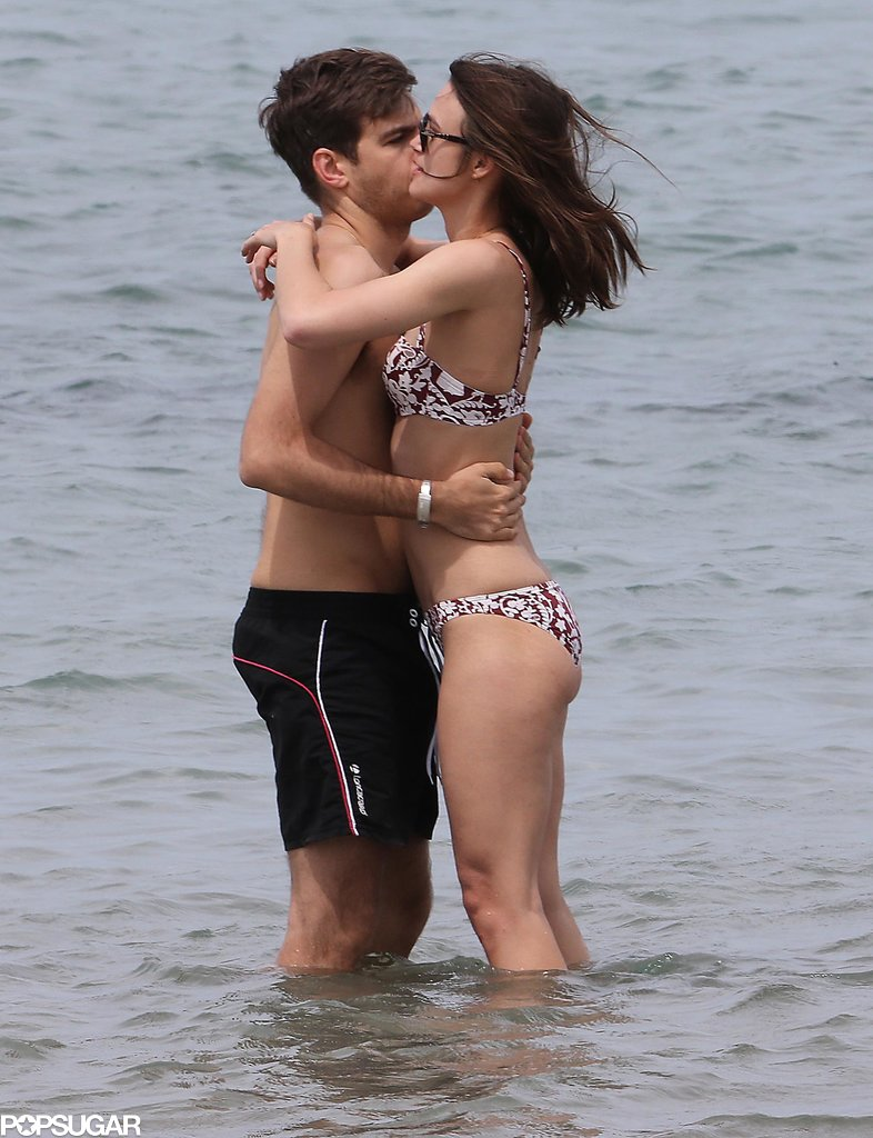 Keira Knightley and James Righton embraced during their honeymoon.