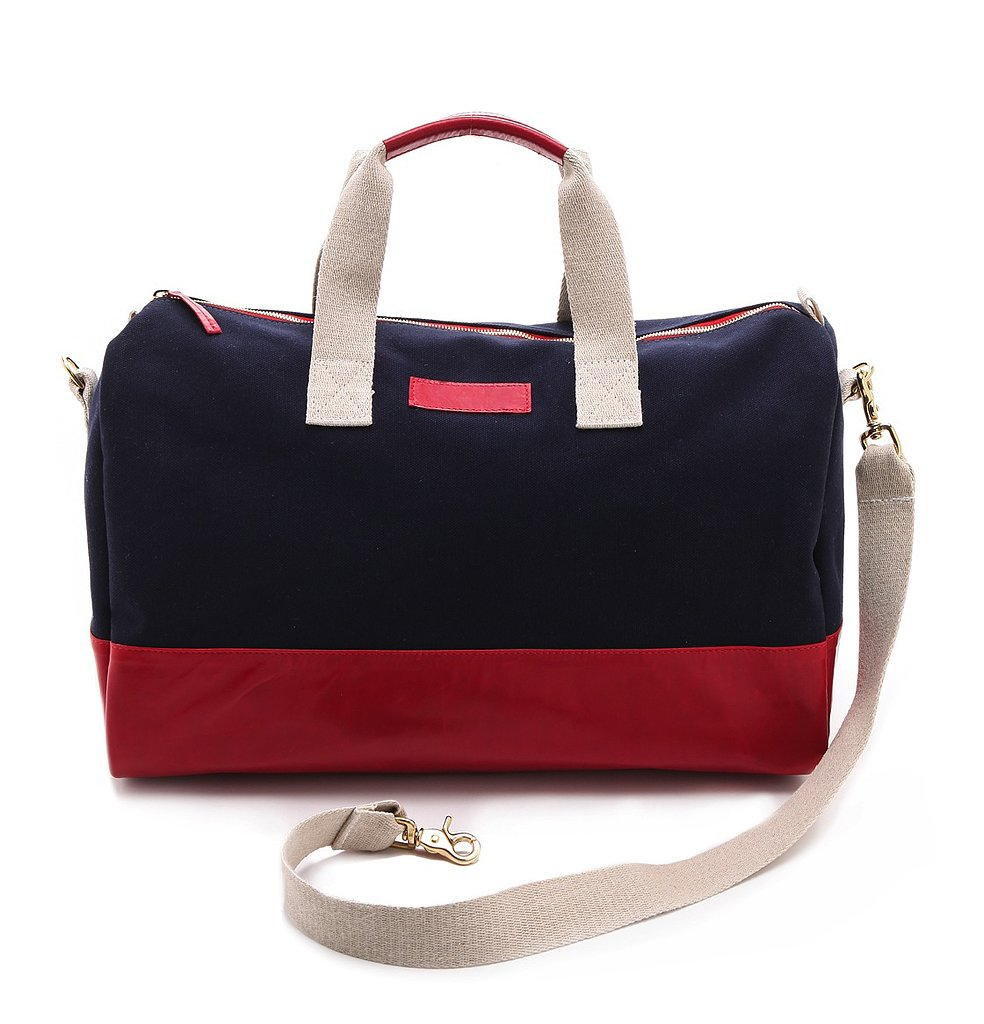 The classic color trio on this Clare Vivier Adam weekender bag ($378) will lend a sporty flair to anything it touches.
