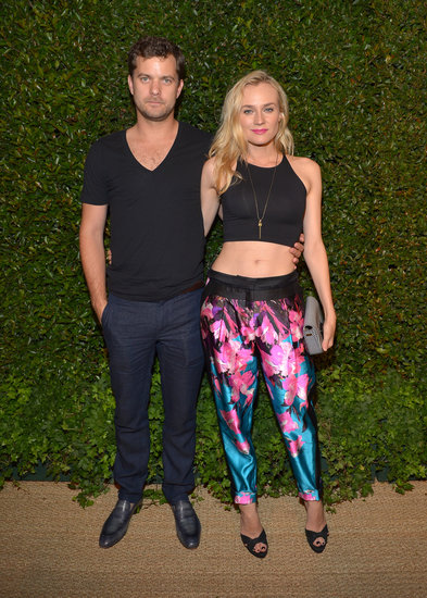 Diane Kruger showed off her midriff at the Vogue and MAC Cosmetics dinner with boyfriend Joshua Jackson.