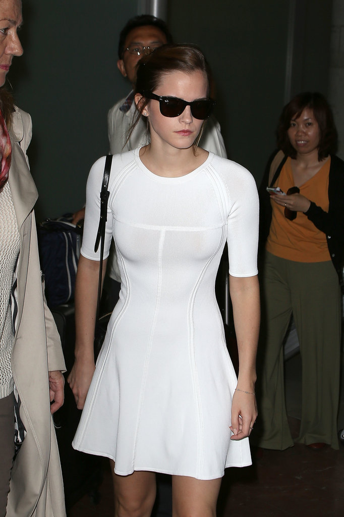 Emma Watson arrived in Nice.