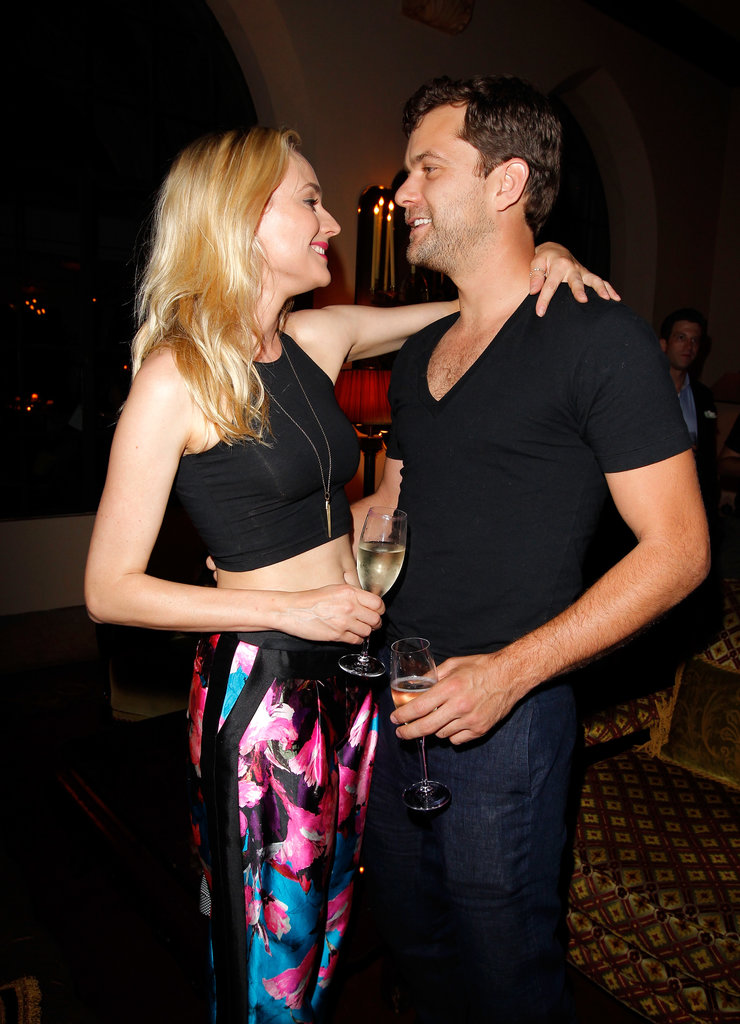 Diane Kruger and Joshua Jackson shared a moment.