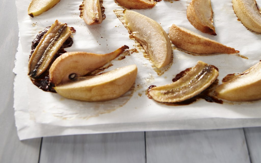 Roast Pear and Banana Puree