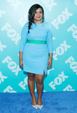 Mindy Kaling sported a color-coordinated outfit.