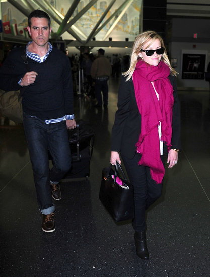 Reese Brings Her Blond Hair to the East Coast With Jim
