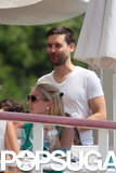 Tobey Maguire had lunch in Cap d'Antibes, France, ahead of the Cannes Film Festival.