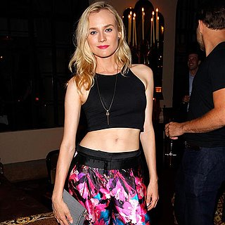 Diane Kruger Wears Crop Top at Vogue Dinner in LA