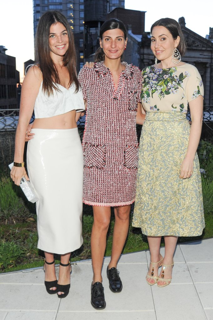 Julia Restoin Roitfeld, Giovanna Battaglia, and Fabiola Beracasa at Beracasa's dinner for Restoin Roitfeld. Source: Neil Rasmus/BFAnyc.com