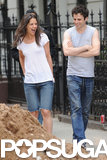 Katie Holmes and Luke Kirby had chemistry on the NYC set of Mania Days on Tuesday in NYC.