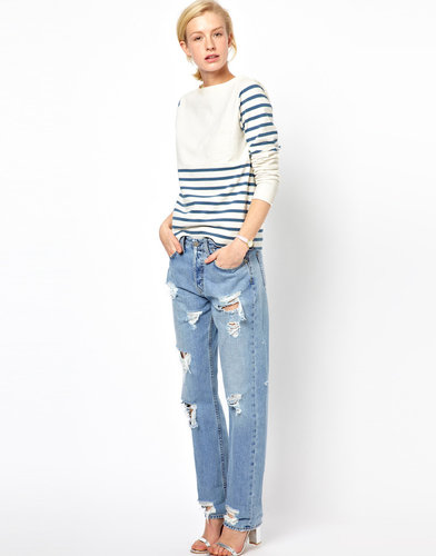 Mih Halsy Distressed Boyfriend Jeans