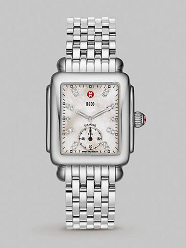 Michele Watches Deco Stainless Steel Bracelet Watch