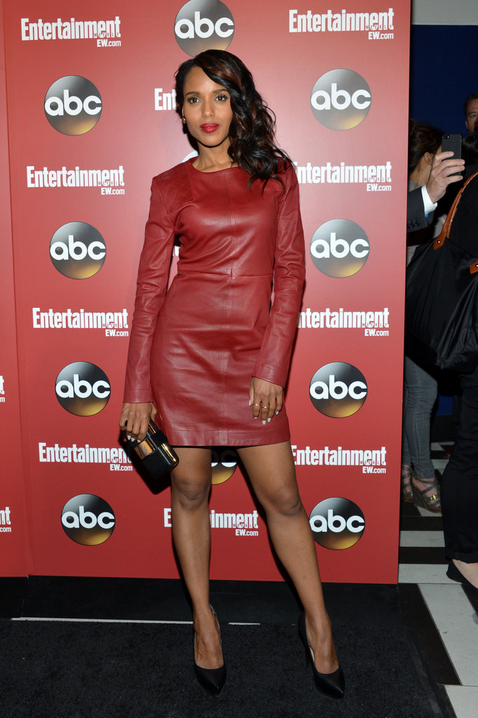 Kerry Washington flaunted her legs.