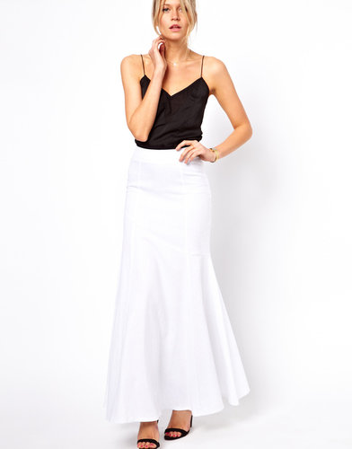 ASOS Maxi Skirt in Linen