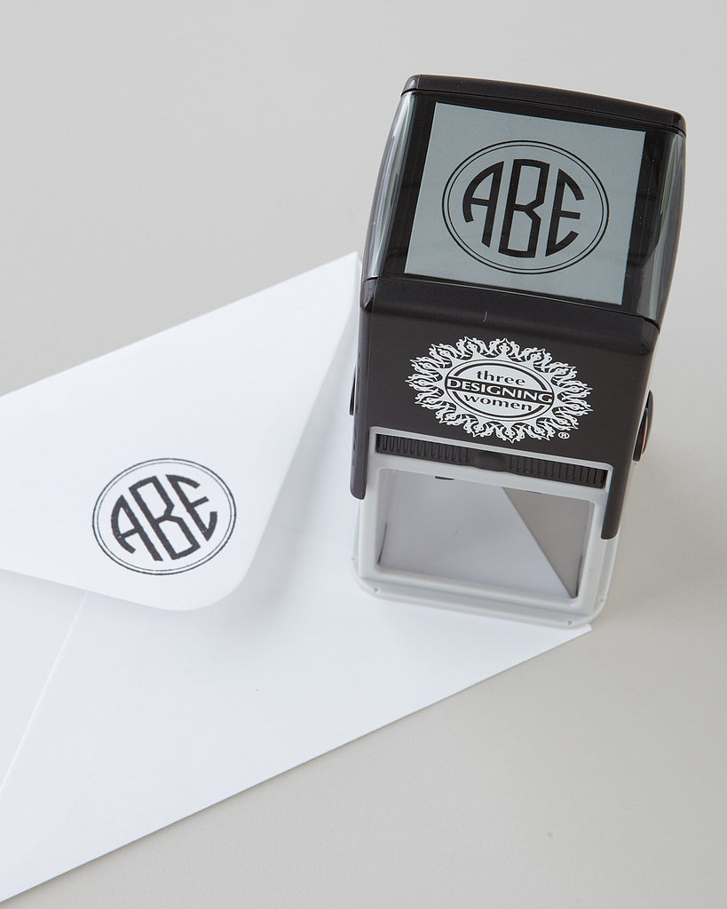 The monogrammed stamp ($40) has taken the place of seals and hot wax, giving an Old World touch to old-school correspondence.