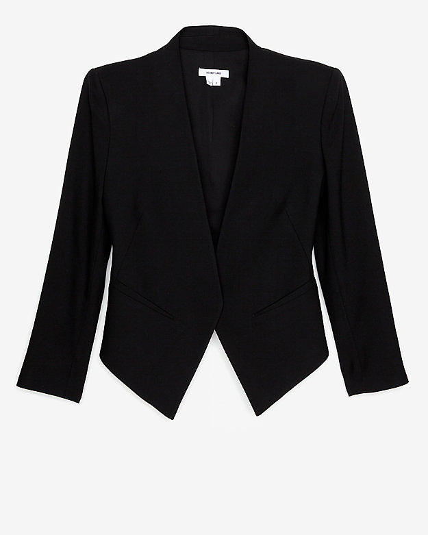 Gone are the days when a suit was required for the job hunt. Plus, Helmut Lang's smartly tailored blazer ($575) will lend the same professional effect to any dress or trousers.