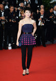 Zhang Ziyi opted for trousers for the Cannes Film Festival red carpet.