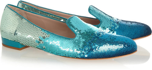 Miu Miu Dégradé sequined slippers