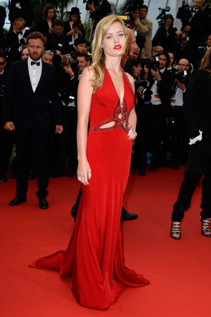 Georgia May Jagger's red Roberto Cavalli dress showed off just the right amount of skin, thanks to a few strategically placed cutouts.