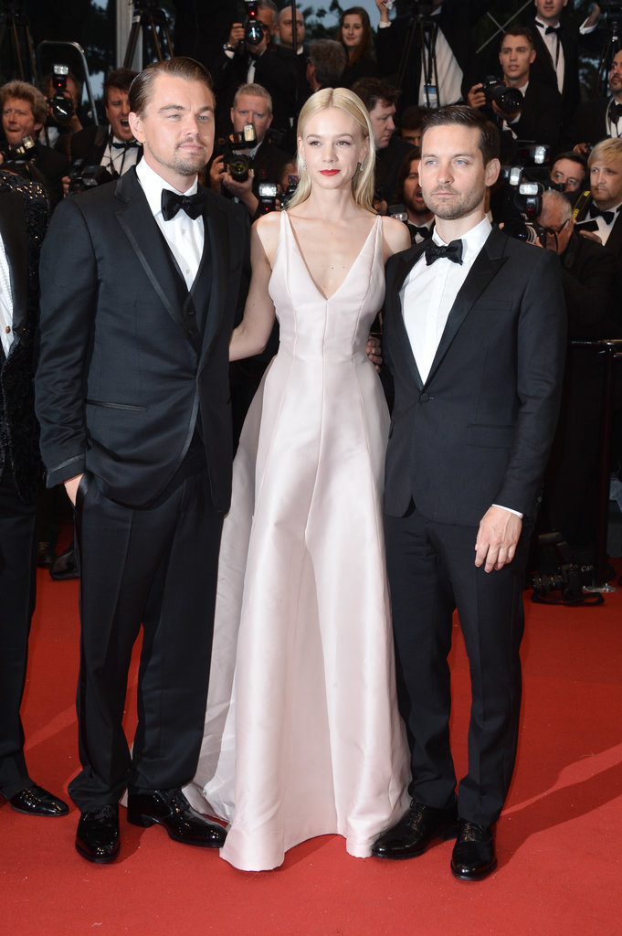 Carey Mulligan (with Saint Laurent-clad co-stars Leonardo DiCaprio and Tobey Maguire) turned up to the premiere in an ultra-minimal blush gown by Dior Haute Couture accented by Tiffany & Co. jewels.