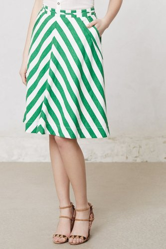 Spearmint Stripe Skirt