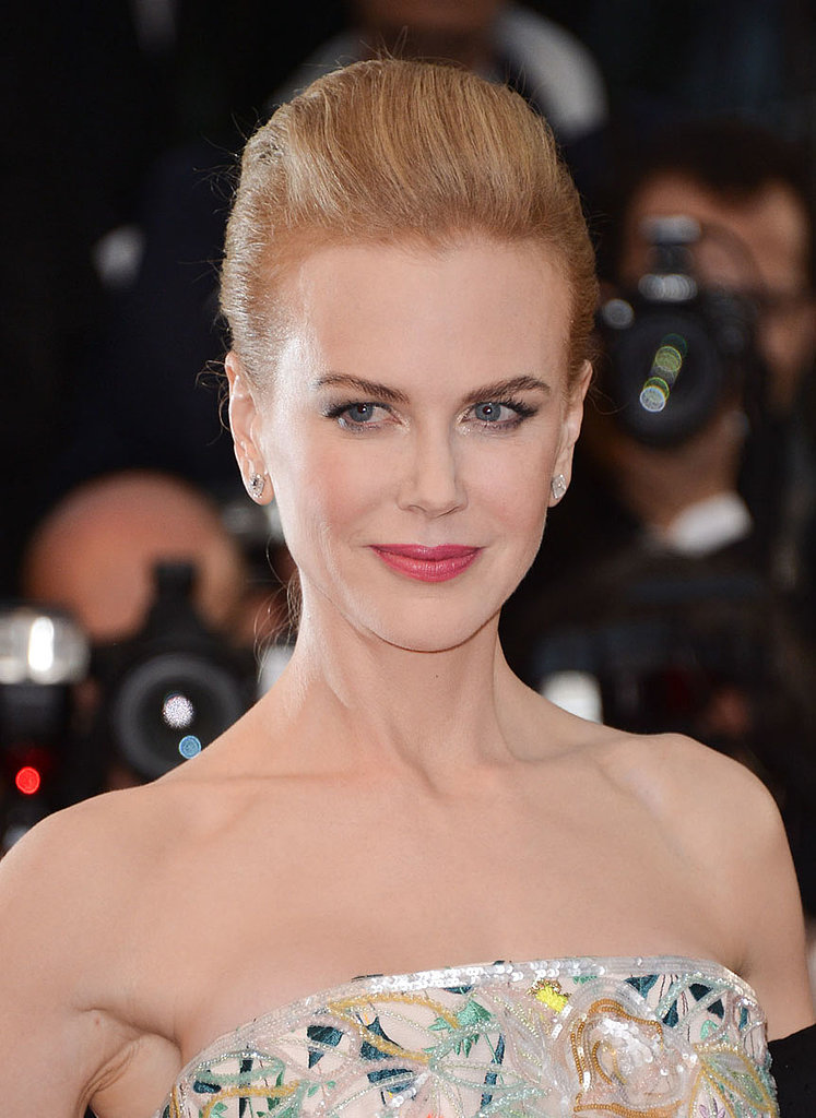 Jury member Nicole Kidman amped up her look with a watermelon pink shade on her lips.