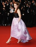 Julianne Moore in Black and Purple Dior Dress