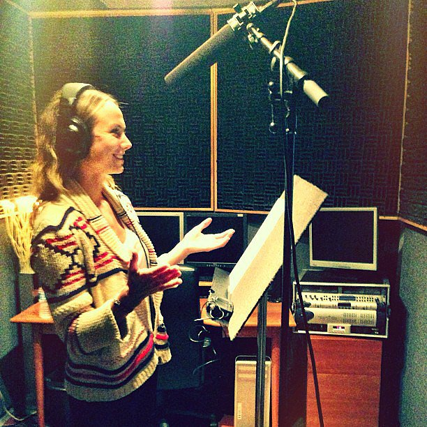 Stacy Keibler did some voiceover work. Source: Instagram user stacykeibler